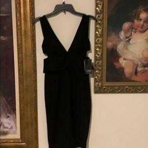 Aidan  AiDan MATTOX black dinner dress